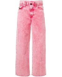 DIESEL デニムワイドパンツ Pink