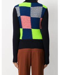 Victoria Beckham パッチワーク セーター Blue