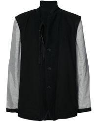 Ann Demeulemeester - Black Contrast Sleeve Coat for Men - Lyst
