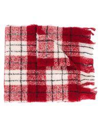 Woolrich チェック スカーフ Red