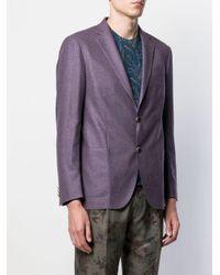 メンズ Etro スリムフィット ジャケット Purple