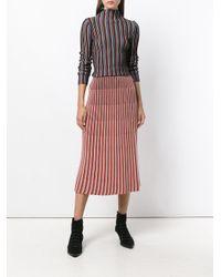 Christian Wijnants Red Khan Knit Skirt