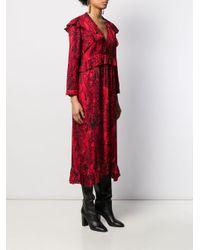Ba&sh Vネック ドレス Red