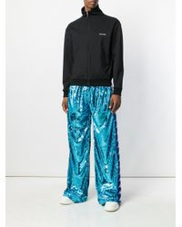 Faith Connexion - Blue Sequinned Side Stripe Track Pants for Men - Lyst