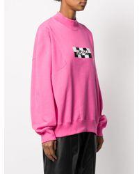 Sudadera con logo estampado MSGM de color Pink