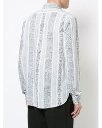 Saint Laurent - White Yves-neck Bandana Print Shirt for Men - Lyst