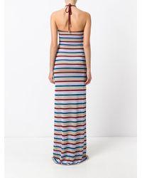 DSquared² - Blue Metallic Stripe Maxi Dress - Lyst