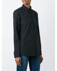 Burberry チェックトリム クラシック シャツ Black