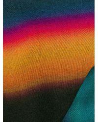 メンズ PS by Paul Smith ストライプ スカーフ Blue
