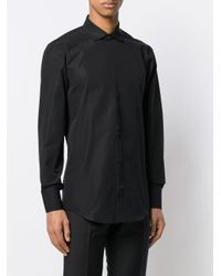 DSquared² Black Spread Collar Shirt for men