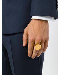 Versace - Metallic Medusa Head Ring for Men - Lyst