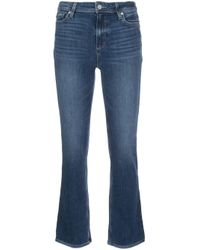 PAIGE Blue Claudine Flared Trousers