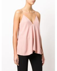 Theory Pink Draped V-neck Camisole