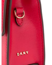 DKNY Jojo レザー ショルダーバッグ Red