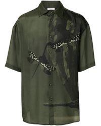 Valentino Green Dragonfly Print Shirt for men