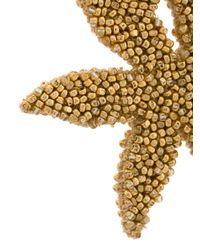 Oscar de la Renta - Metallic Double Starfish Earrings - Lyst