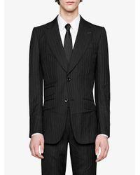 Mitford pinstripe wool jacket di Gucci in Black da Uomo