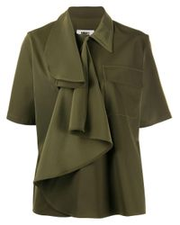 Camicia con ruches di MM6 by Maison Martin Margiela in Green