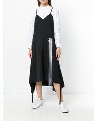 Moohong Black Embroidered Detail Asymmetrical Dress