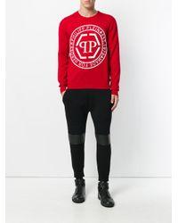 Philipp Plein Red Eddy Sweater for men