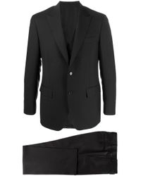 Canali Zweiteiliger Anzug mit schmalem Schnitt in Black für Herren