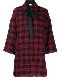 Abrigo oversize a cuadros RED Valentino de color Red