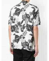 Loveless - White Floral Short-sleeve Shirt for Men - Lyst