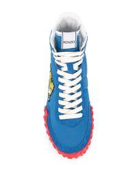 KENZO High-Top-Sneakers mit Tiger-Patch in Blue für Herren