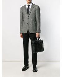 Mallette à design tissé Ermenegildo Zegna pour homme en coloris Black