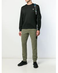Stone Island Sweater Met Geborduurd Logo in het Black voor heren
