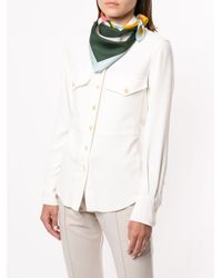 Pañuelo con diseño colour block Tory Burch de color Green