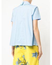 Vivetta Blue Face Embroidered Shirt