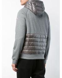 Moncler - Gray Kapuzenpullover mit Dauneneinsatz for Men - Lyst