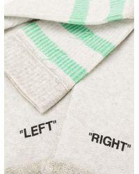 メンズ Off-White c/o Virgil Abloh ストライプ靴下 Multicolor