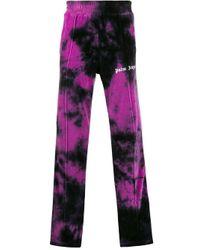 Palm Angels Jogginghose mit Batik-Print in Purple für Herren