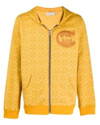 メンズ COACH プリントジャケット Yellow