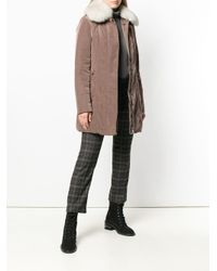 Peuterey - Brown Fur Trim Parka - Lyst