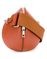 Cedric Charlier Brown Round Shoulder Bag