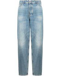 Tom Wood Blue Carrot Selvedge Jeans for men