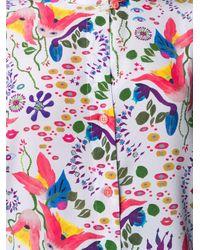 PS by Paul Smith Purple Hemd mit Blumen-Print