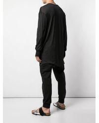メンズ Boris Bidjan Saberi 11 ロングtシャツ Black
