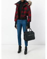 DSquared² Black Small Twin Zip Handbag