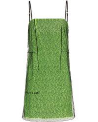 1017 ALYX 9SM Green Layered-mesh Mini Dress