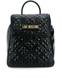 Love Moschino キルティング ロゴ バックパック Black