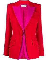 Alexander McQueen カラーブロック ジャケット Red