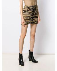 Minijupe à imprimé tigre Laneus en coloris Black