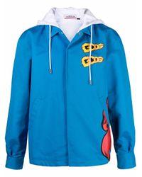 メンズ Gcds ロゴ フーデッドジャケット Blue