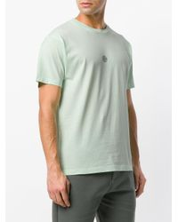 Stone Island Green Small Logo Print T-shirt for men