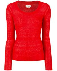 Étoile Isabel Marant Red Foty Knit Sweater