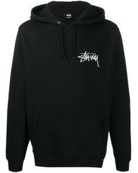 Sweat à capuche long à logo Stussy pour homme en coloris Black
